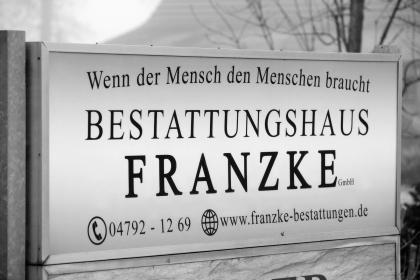Außenaufnahme Bestattungshaus Franzke